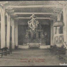 Postais: 1910 ISLAS MARIANAS GUAM INTERIOR DE LA VIEJA IGLESIA. Lote 261111415