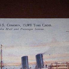 Postales: POSTAL ANTIGUA BARCO COMORIN AUSTRALIA. Lote 264055630