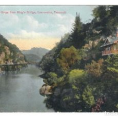 Postales: LAUNCESTON (AUSTRALIA) - CATARACT GORGE FROM KING'S BRIDGE - CIRCULADA. Lote 265859149