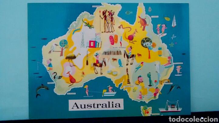 MAP OF AUSTRALIA. MURFETT PUBLISHERS. AUSTRALIA. NATIONAL VIEW. SIN CIRCULAR. (Postales - Postales Extranjero - Oceanía)