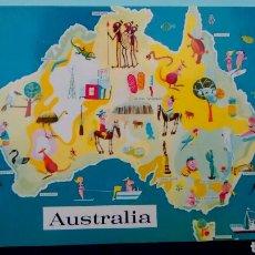 Postales: MAP OF AUSTRALIA. MURFETT PUBLISHERS. AUSTRALIA. NATIONAL VIEW. SIN CIRCULAR.. Lote 284247488