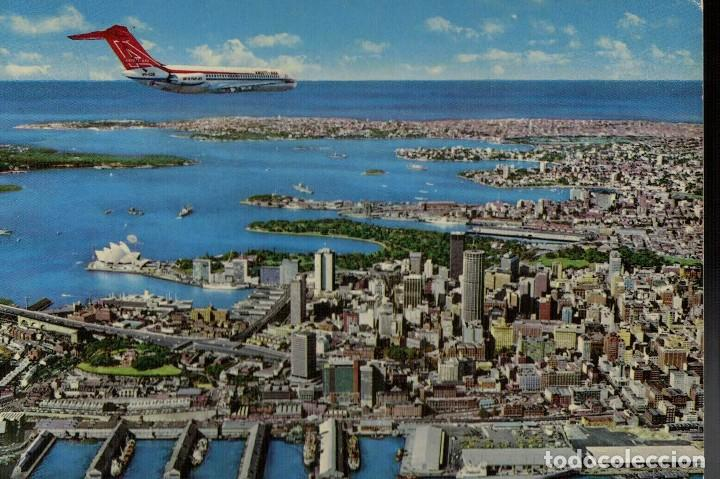 SIDNEY. AUSTRALIA. CITY PANORAMA WITH OPERA HOUSE AND PACIFIC OCEAN IN BACKGROUND (Postales - Postales Extranjero - Oceanía)