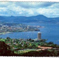 Postales: HOBART, TASMANIA, AUSTRALIA. REGATAS EN EL ESTUARIO DEL DERWENT.- CIRCULADA A INGLATERRA EN 1981.. Lote 286372828