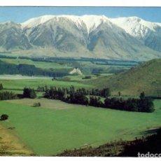 Postales: NUEVA ZELANDA / NEW ZEALAND. RAKAIA VALLEY AND MT. HUTT.- PHOTO R. SINCLAIR. ESCRITA.. Lote 286374628