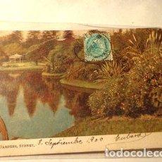 Postales: 1906 SYDNEY AUSTRALIA BOTANICA GARDENS CIRCULADA. Lote 294201653