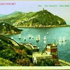 Postales: POSTAL DE SAN SEBASTIÁN FECHADA EN 1955. Lote 16618478