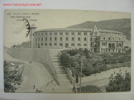 SAN SEBASTIAN PLAZA DE TOROS (Postales - España - Pais Vasco Antigua (hasta 1939))