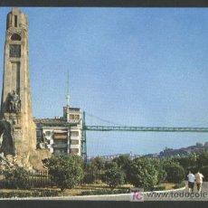 Postales: A-4711 VIZCAYA. LAS ARENAS. MONUMENTO A CHURRUCA Y PUENTE DE VIZCAYA.. Lote 23401555