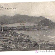 Postales: SAN SEBASTIAN - VISTA DESDE EL MONTE ULÍA. Lote 3663816
