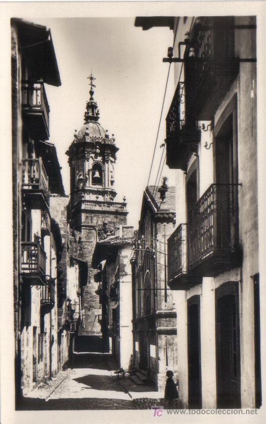 FUENTERRABIA - CALLE DE LAS TIENDAS. FOTO GALARZA Nº 27.- (Postales - España - País Vasco Moderna (desde 1940))
