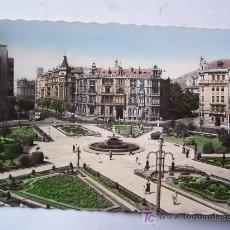 Postales: BONITA POSTAL DE BILBAO 12, PLAZA DE FREDERICO MOYUA (AÑOS 50). Lote 23208469