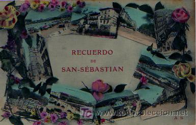 SAN SEBASTIÁN. RECUERDO DE SAN SEBASTIÁN. (Postales - España - Pais Vasco Antigua (hasta 1939))