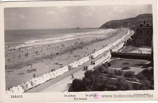 POSTAL FOTOGRAFICA DE ZARAUZ. CIRCULADA. (Postales - España - País Vasco Moderna (desde 1940))