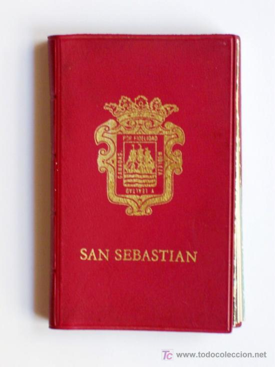 PRECIOSA CARTERITA RECUERDO CON 24 FOTOGRAFIAS DE SAN SEBASTIAN AÑOS 60 (Postales - España - País Vasco Moderna (desde 1940))