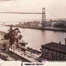 Postales: BILBAO.PUENTE DE VIZCAYA.CIRCULADA 1956. Lote 24561649