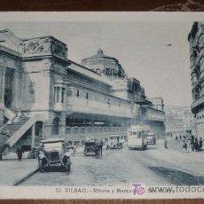Postales: ANTIGUA POSTAL DE BILBAO - RIBERA Y MERCADO DE SAN ANTON (VIZCAYA) . FOTO ROISIN - SIN CIRCULAR. Lote 5914977