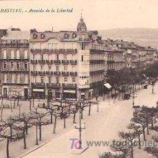 Postales: SAN SEBASTIÁN. AVENIDA DE LA LIBERTAD.. Lote 6177934