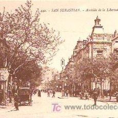 Postales: SAN SEBASTIÁN. AVENIDA DE LA LIBERTAD.. Lote 6947711