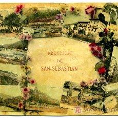 Postales: SAN SEBASTIAN, GUIPUZCOA, RECUERDO DE SAN SEBASTIAN, P17607. Lote 9624603