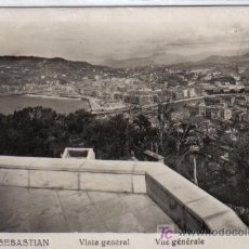 Postales: 312 SAN SEBASTIAN - VISTA GENERAL - L. ROISON-FOTO. Lote 26878336