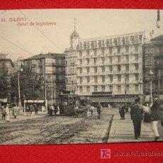Postales: BILBAO, HOTEL INGLATERRA, POSTAL CIRCULADA AÑO 1912 TP5778 . Lote 6331250