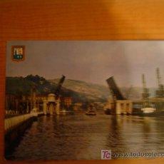 Postales: POSTAL BILBAO PUENTE DEL GENERALISIMO FRANCO. Lote 6351624