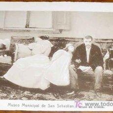 Postales: ANTIGUA POSTAL DEL MUSEO MUNICIPAL DE SAN SEBASTIAN - LAZO DE UNION - PLA (CECILLO) - RESINES FOTO . Lote 6369370