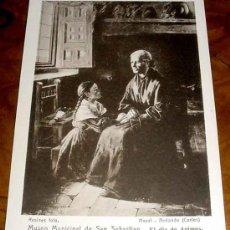 Postales: ANTIGUA POSTAL DEL MUSEO MUNICIPAL DE SAN SEBASTIAN - LAZO DE UNION - PLA (CECILLO) - RESINES FOTO . Lote 6369376