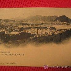 Postales: SAN SEBASTIAN - VISTA DESDE EL MONTE ULIA. Lote 6804362