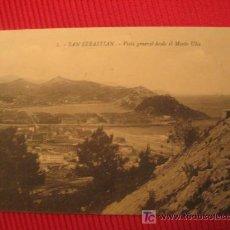 Postales: SAN SEBASTIAN - VISTA GENERAL DESDE EL MONTE ULIA. Lote 6819182