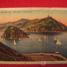 Postales: SAN SEBASTIAN - VISTA DESDE EL MONTE URGULL. Lote 6831138