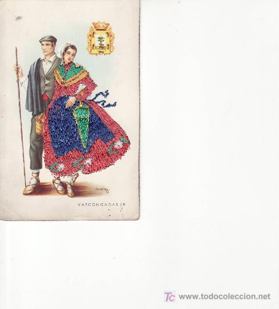 POSTAL BORDADA VASCONGADAS Nº19.MAS POSTALES EN RASTRILLOPORTOBELLO (Postales - España - País Vasco Moderna (desde 1940))