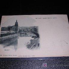 Postales: BILBAO-220 MERCADO E IGLESIA DE SAN ANTON -HAUSER Y MENET .MADRID-LANDABURU HER. BILBAO. 14X9 CM. -. Lote 7009169