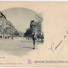 Postales: BILBAO. GRAN VIA. LANDABURU HERMANAS 540. REVERSO SIN DIVIDIR. CIRCULADA. Lote 7089211