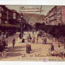 Postales: AVENIDA DE LA LIBERTAD DE SAN SEBASTIAN (GUIPUZCOA) 1912 EN TARJETA CIRCULADA A ARGENTINA. BONITA.. Lote 24743603