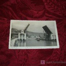 Postales: BILBAO,LA RIA PUENTE DE DEUSTO, ABIERTO,MADYMA. Lote 12595558