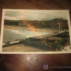 Postales: SAN SEBASTIAN ONDARRETA PLAYA Y CLUB DE TENIS . Lote 7459307