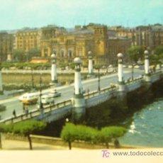 Postales: + SAN SEBASTIÁN PUENTE DE KURSAAL AÑOS 70 CIRCULADA. Lote 7574644