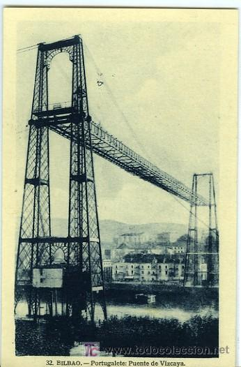POSTAL BILBAO PUENTE DE VIZCAYA PORTUGALETE (Postales - España - Pais Vasco Antigua (hasta 1939))
