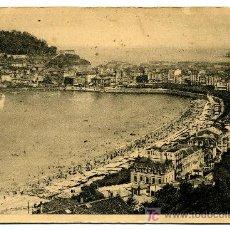 Postales: SAN SEBASTIAN- VISTA DESDE LA VILLA EVA ENEA- FRANQUEADA Y ESCRITA 1943 (VER FOTO) FOTO GALARZA. Lote 26225237