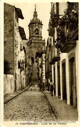 FUENTERRABÍA - CALLE DE LAS TIENDAS (Postales - España - País Vasco Moderna (desde 1940))