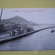 Postales: BILBAO - PORTUGALETE - MUELLE DE CHURRUCA - SIN CIRCULAR. Lote 8442693