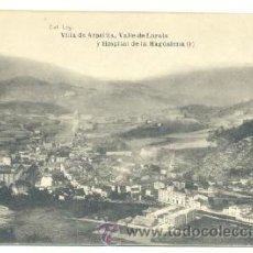 Postales: POSTAL VILLA DE AZPETIA .. VALLE DE LOYOLA Y HOSPITAL DE LA MAGDALENA. Lote 25688954