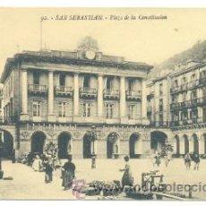 Postales: POSTAL SAN SEBASTIAN .. PLAZA DE LA CONSTITUCIÓN . Lote 26735663