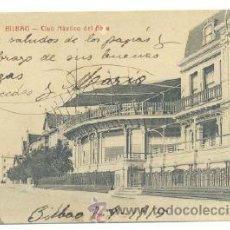 Postales: POSTAL BILBAO .. CLUB NÁUTICO DEL ABRA 1915. Lote 27294078