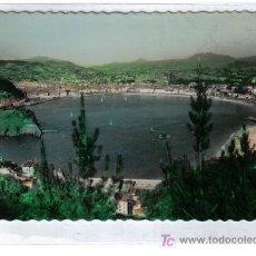 Postales: 55 SAN SEBASTIAN - PLAYA DE LA CONCHA - FOTO COLOREADA. Lote 26477095