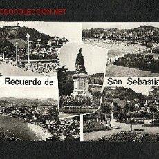 Postales: POSTAL DE SAN SEBASTIAN (GUIPUZCOA): 5 VISTAS (GALARZA, NUM.10). Lote 1466376