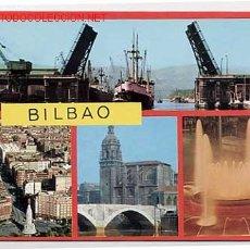 Cartes Postales: BILBAO. PUENTE DEL GENERALÍSIMO, GRAN VÍA Y MONUMENTO SAGRADO CORAZÓN. Lote 7512251