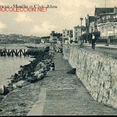 Postales: TARJETA POSTAL DE ARENAS- MUELLE Y CLUB ABRA. Lote 13042009