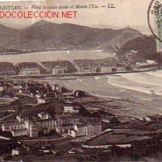 Postales: SAN SEBASTIAN. VISTA DESDE EL MONTE ULÍA.. Lote 2633673